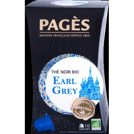 Thé noir Earl Grey bio Pagès 10 capsules