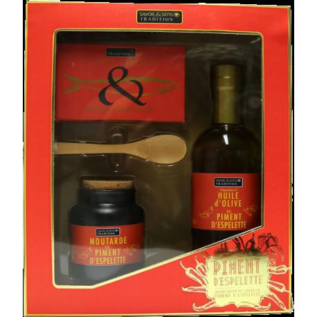 """Coffret Tout Rouge """"Autour des saveurs de Piment d'Espelette"""""""