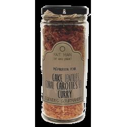 Cake aux lentilles corail, carottes et curry 210 g