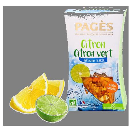 Infusion glacée Citron Citron vert bio 20 sachets