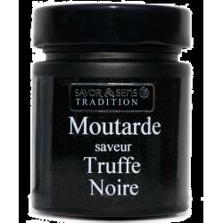 Moutarde aux brisures de truffe noire (pot noir) Savor & Sens