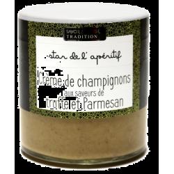 Crème de champignon, aux brisures de truffe noire et parmesan Savor et Sens