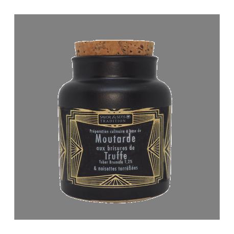 Moutarde Traditionnelle Brisure de truffe et Noisettes torrifiées