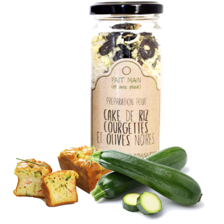 Cake riz courgettes olives 190 g