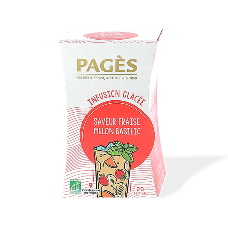 Infusion glacée Saveur Fraise Melon Basilic bio 20 sachets