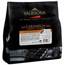 Chocolat au lait Caramelia 36% en fèves Valrhona