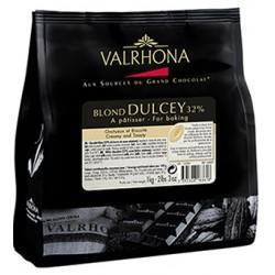 Chocolat blond Dulcey 32% en fèves Valrhona