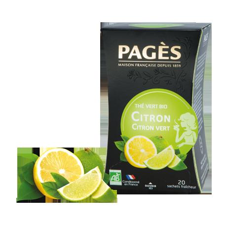 Thé vert Citron Citron vert Bio Pagès