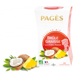 Infusion Bio Brûle Graisse Saveur Coco Ananas