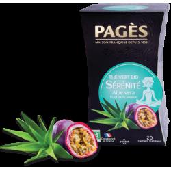Thé Vert Bio Sérénité Aloe Vera Fruit de la Passion Pagès